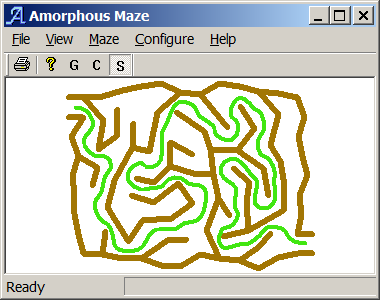 Creates mazes without a grid
